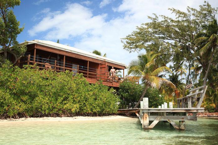 Unsere schöne Hütte am Strand.