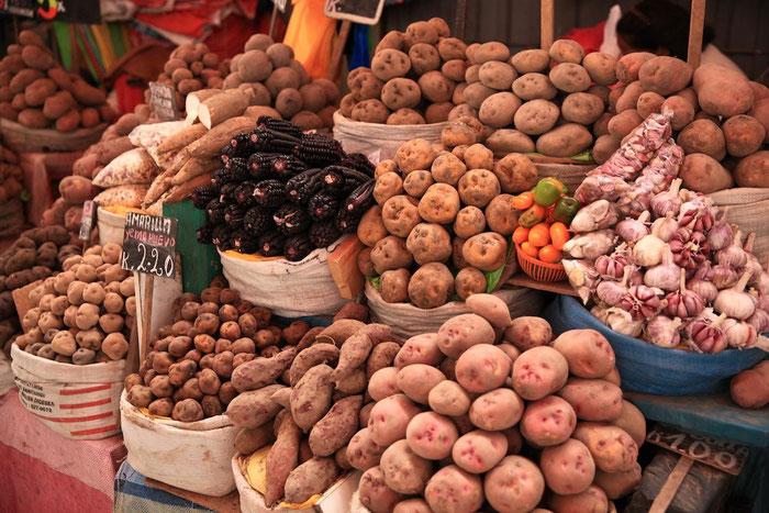 Peru hat über 300 Sorten Kartoffeln und 50 Sorten Mais
