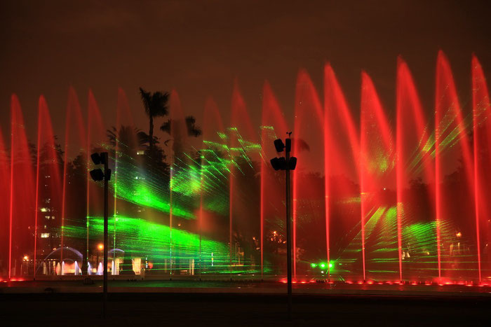 Eine tolle Lichtershow sahen wir im Circuito Magico del Aqua