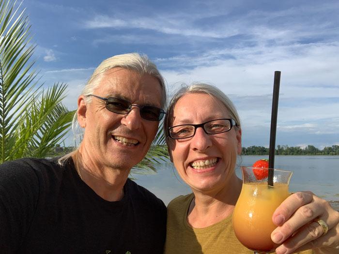 Urlaubsfeeling mit Tequila Sunrise vor dem großen Tag