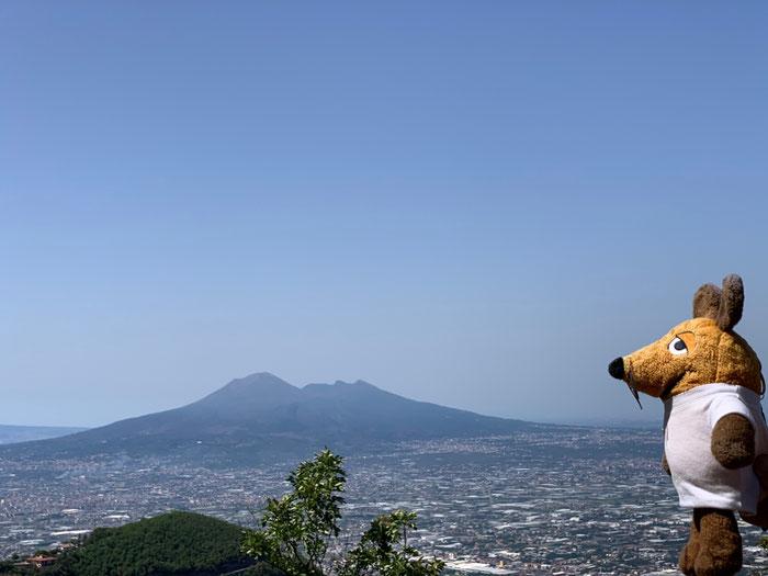 Maus vor dem Vesuv
