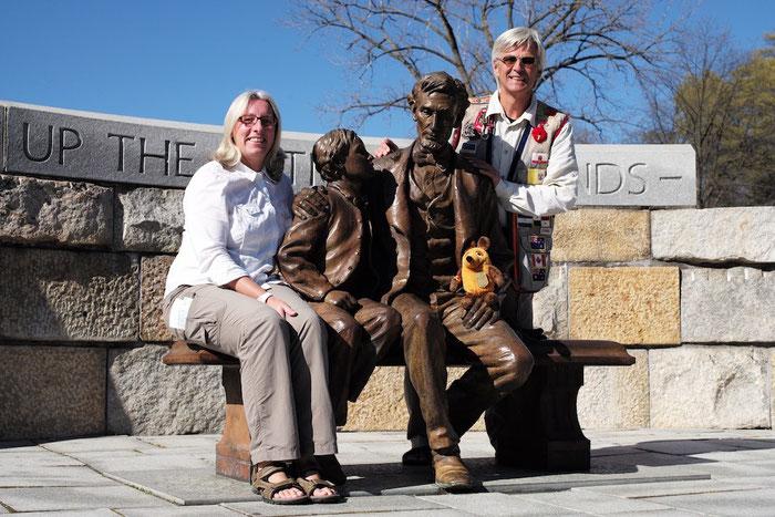 Wir Drei im Richmond National Battlefield Park