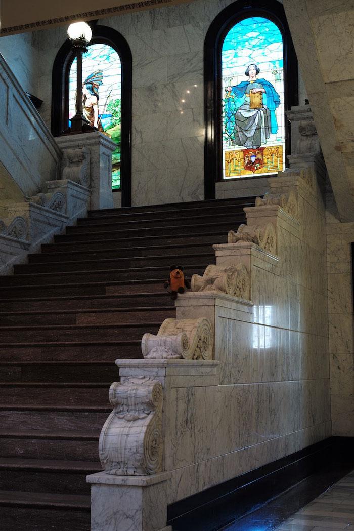 Maus führt uns durch das Mississippi State Capitol in Jackson
