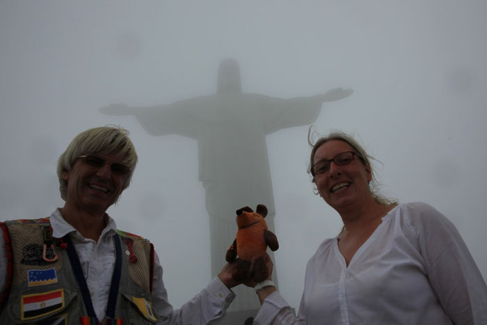 Wir werden auf dem Corcovado gesegnet.