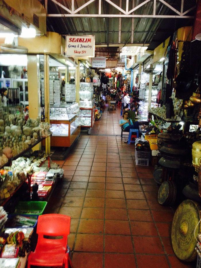 """Im """"Russenmarkt"""" von Phnom Penh"""