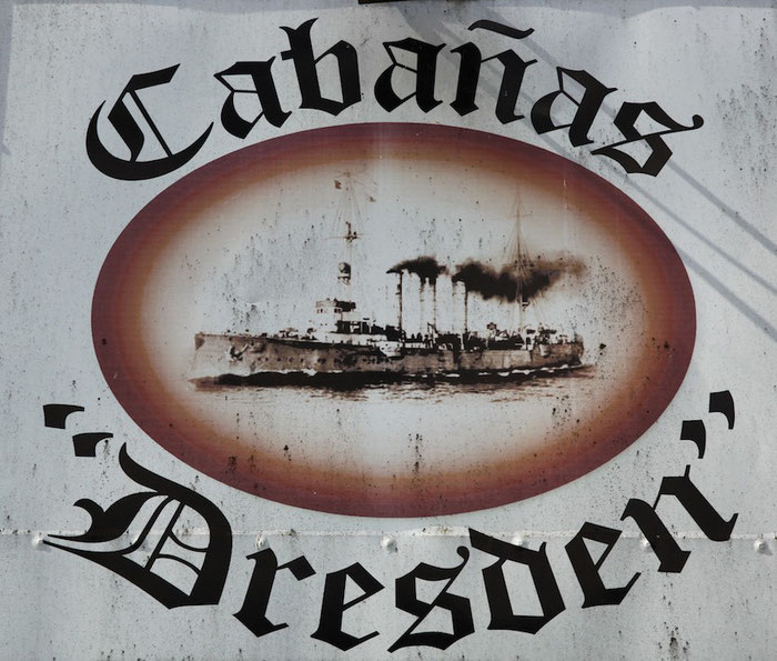 Schild an einem Restaurant in Puerto Varas