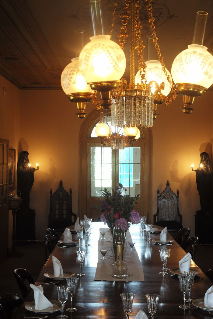 "Der Speisesaal des Herrenhauses ""San Francisco Plantation"""