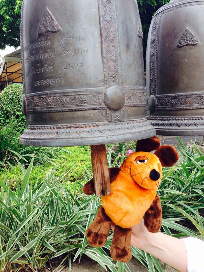 Die Maus läutet die Glocken in Wat Arun ! Wenn das ein Wächter sieht !