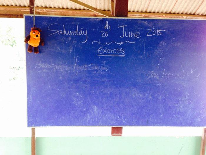 Englischlehrer Maus in der Schule in Cheung Kok