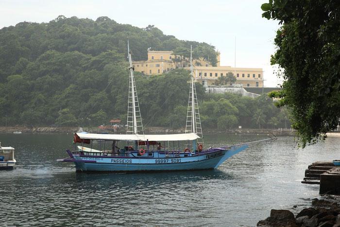 Die FILHA DE GAIA, das Schiff für unseren spontanen Bootsausflug durch Rio's Gewässer