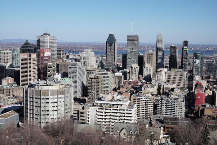 Blick vom Mont Royal auf Montréal.