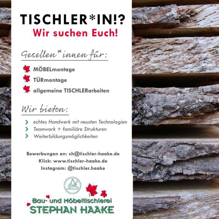 Stellenanzeige Tischler in Neuenkirchen