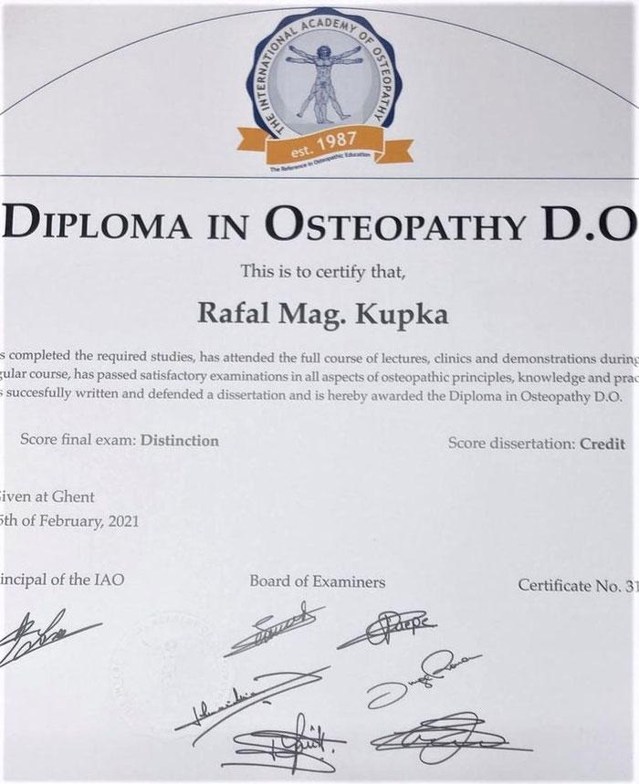 Physiotherapie  und  Osteopathie in Graz Diploma