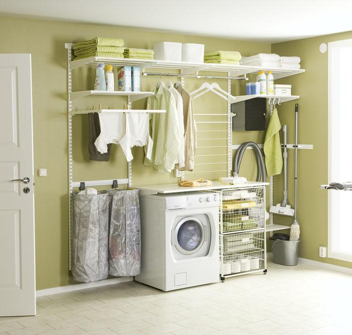 elfa regalsystem im hauswirtschaftsraum hauswirtschaftsraum schaub schranksysteme. Black Bedroom Furniture Sets. Home Design Ideas