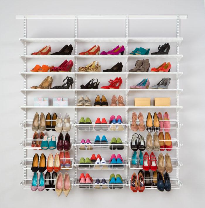 Regalsystem für Schuhaufbewahrung