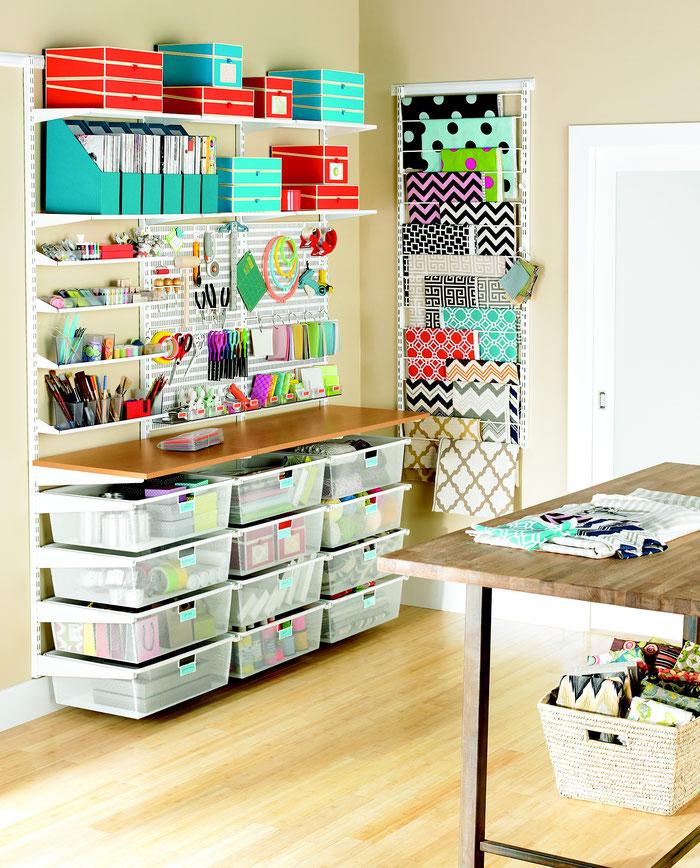 Elfa Regalsystem für Bastelzimmeroder Arbeitszimmer