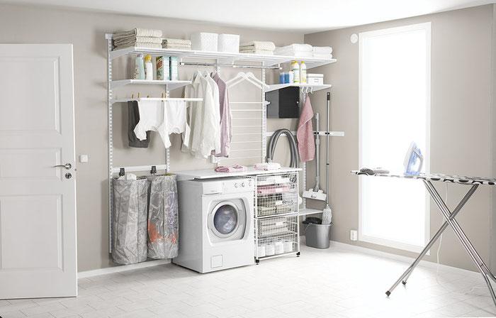 Regalsystem für Waschküche und Hauswirtschaftsraum