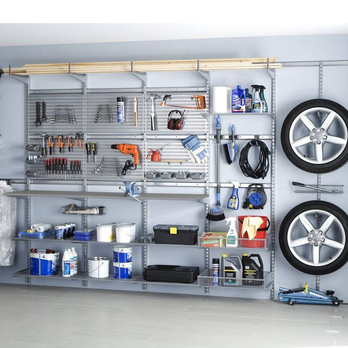 Regalsystem Garage, Regalsystem Keller, Garageneinrichtung, Regalsysteme Garage