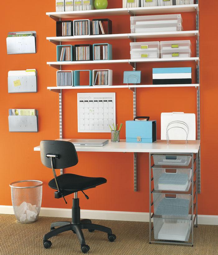 Elfa Regalsystem für Home Office oder Arbeitszimmer