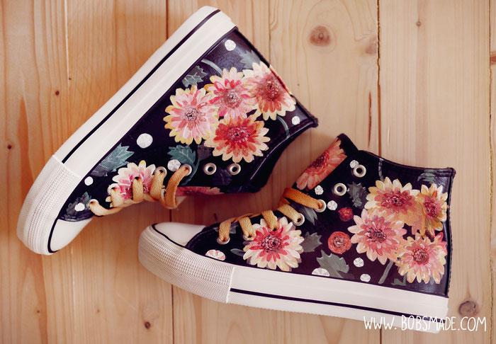 dahlia custom shoes by bobsmade