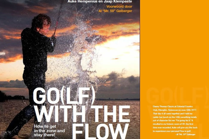 Cover foto van Auke Hempenius voor zijn boek Golf with the flow