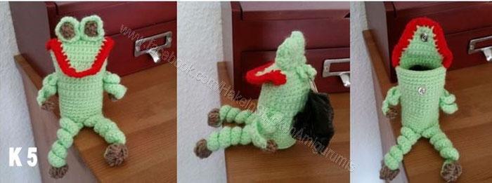 Kotbeuteltasche Frosch