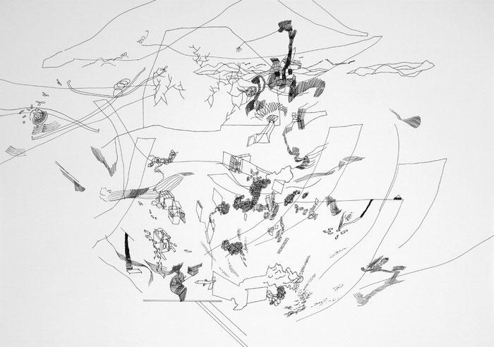 Journal 01 . 2017 . Tusche auf Papier . 60 x 84 cm