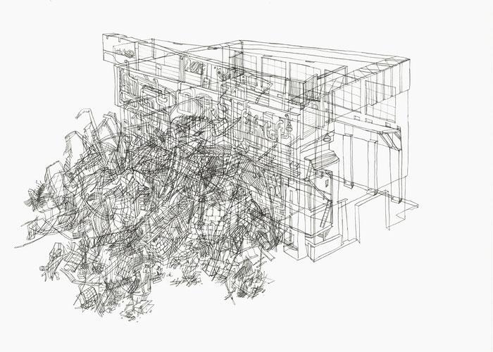 KW Thierbach . 2015 . Bleistift auf Papier . 29,7 x 42 cm