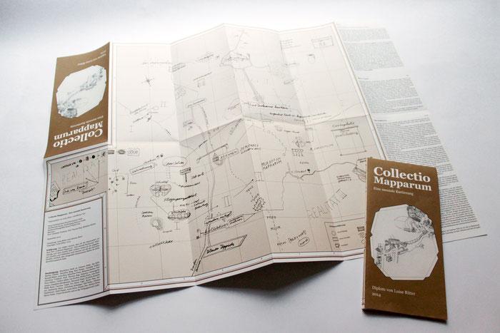 Collectio Mapparum - Eine mentale Kartierung . 2014 . Offsetdruck . 47 x 67 cm . Auflage 50 . Faltplan
