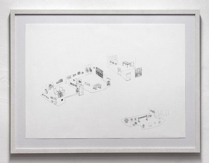Jahresausstellung 2014 . 2014 . Bleistift auf Papier . 50 x 70 cm