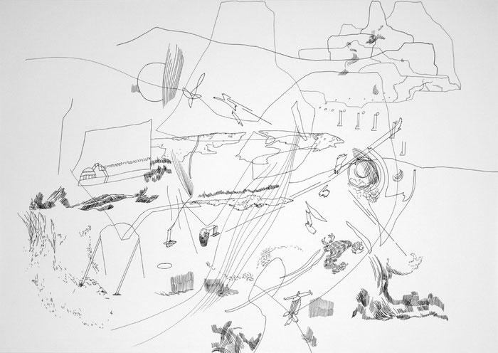 Journal 02 . 2018 . Tusche auf Papier . 60 x 84 cm