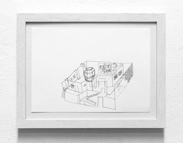 Lichthaus . 2014 . Bleistift auf Papier . 15 x 21 cm