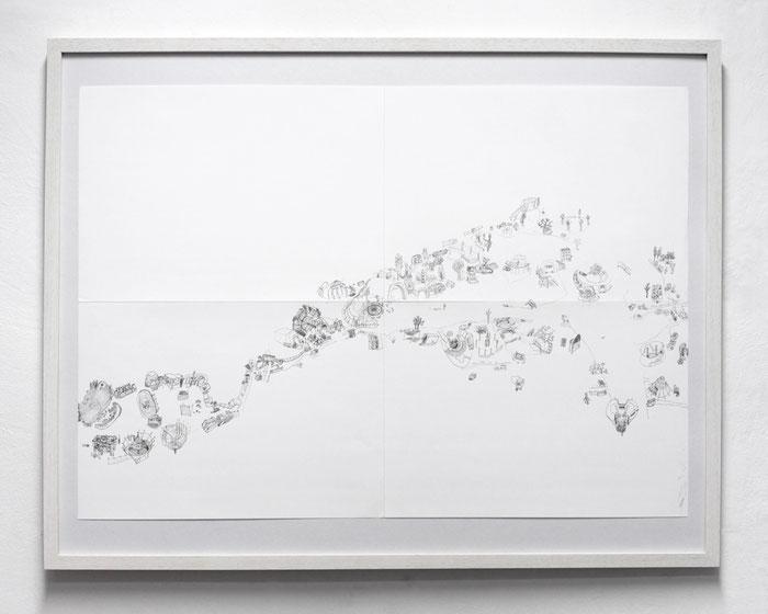 Fusion Lärz . 2014 . Bleistift auf Papier . 60 x 84 cm