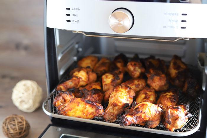 Hähnchenflügel im Air Fryer von Pampered Chef aus dem Onlineshop