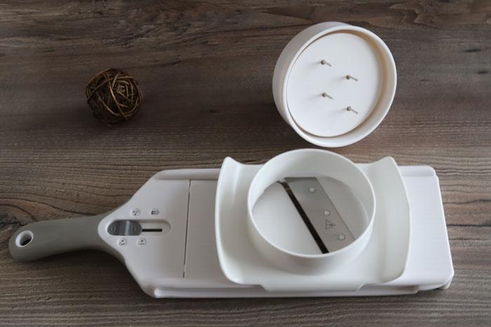Pampered Chef Hobel, kleiner Küchenhobel mit Aufsatz im Pampered Chef Onlineshop kaufen