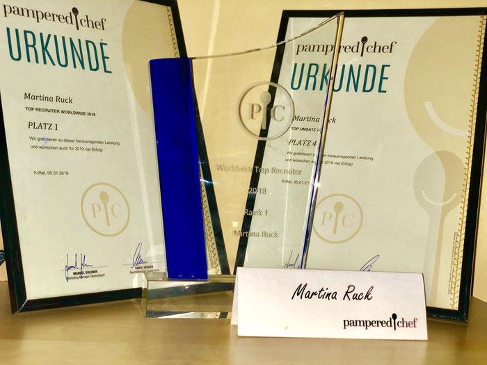 Auszeichnung bester Pampered Chef Berater Platz eins Pampered Chef online kaufen im Onlineshop