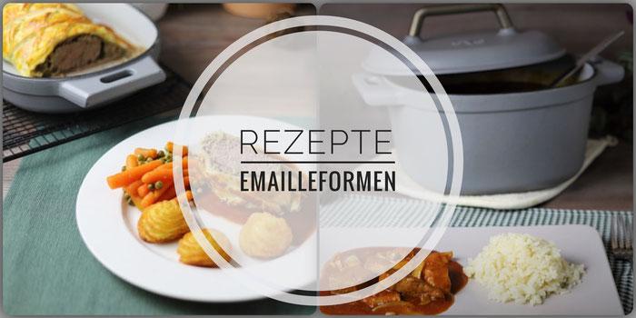 Rezepte für den emaillierten gusseisernen Topf sowie Baker von Pampered Chef