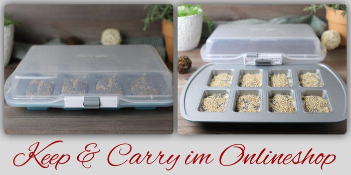 Keep & Carry Deckel für Mini Kuchenform, Muffinform und Donutform von Pampered Chef