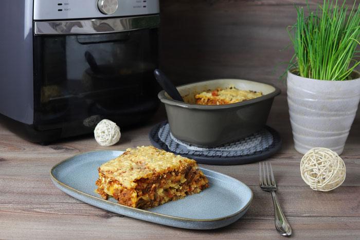 Pampered Chef Air Fryer im Onlineshop kaufen - Lasagne im kleinen Zaubermeister Lily