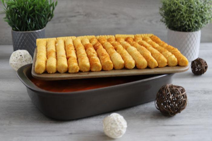 Belegung und gefrorene Lebensmittel auf der Stoneware von Pampered Chef