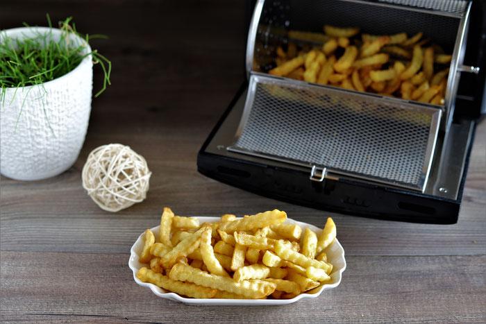 Pommes Frites im Deluxe Airfryer von Pampered Chef aus dem Pampered Chef Onlineshop