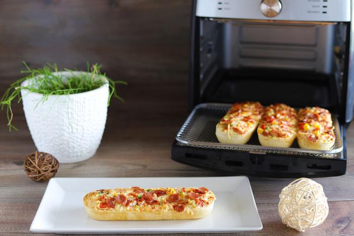 Baguettes Dr. Oetker im Deluxe Airfryer von Pampered Chef aus dem Pampered Chef Onlineshop