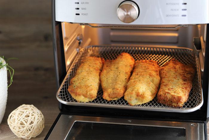 Gebackener Fisch im Deluxe Airfryer von Pampered Chef aus dem Pampered Chef Onlineshop