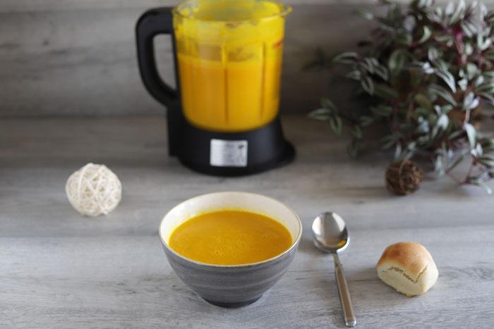 Kürbissuppe oder Kürbiscremesuppe im Deluxe Blender von Pampered Chef