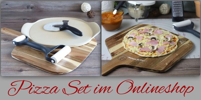 Pizzaset mit Pizzazauberer, Teigroller, Pizzaschneider und Pizzaschieber im Onlineshop von Pampered Chef bestellen