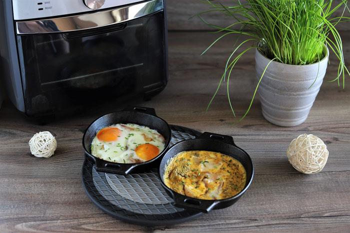 Pampered Chef Air Fryer im Onlineshop kaufen - Rühreier oder Spiegeleier