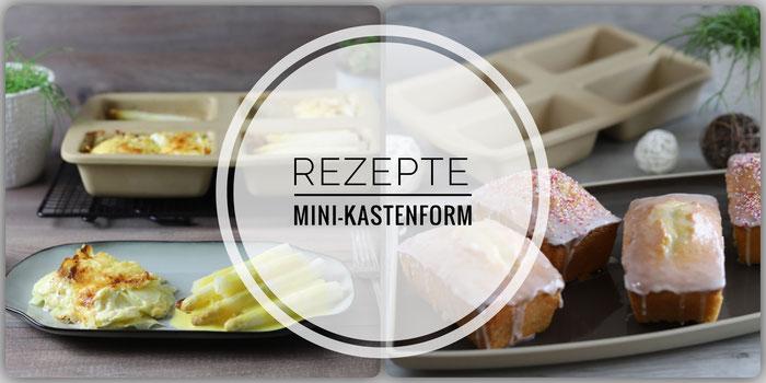 Rezepte für die Mini Kastenform Zauberkästchen von Pampered Chef im Rezept-Blog mit Onlineshop