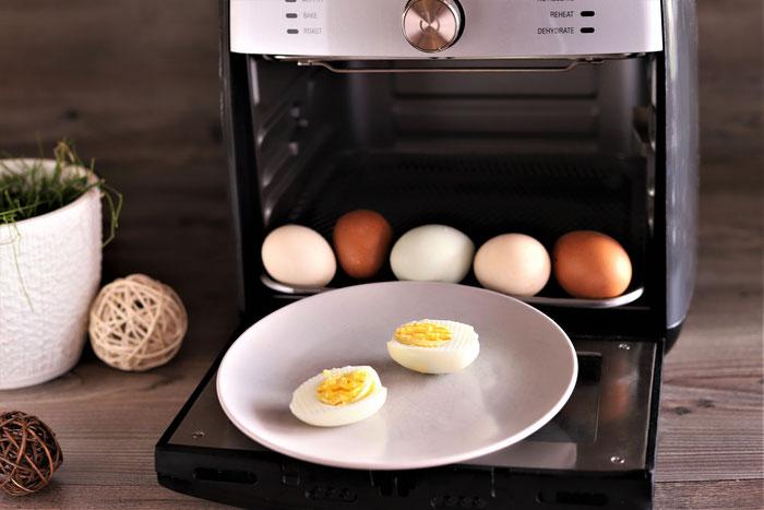 Gekochte Eier im Deluxe Airfryer von Pampered Chef aus dem Pampered Chef Onlineshop
