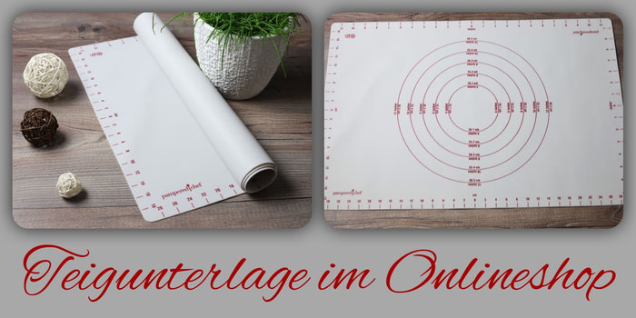 Backunterlage oder Teigunterlage oder Backmatte, Teigmatte aus dem Pampered Chef Onlineshop