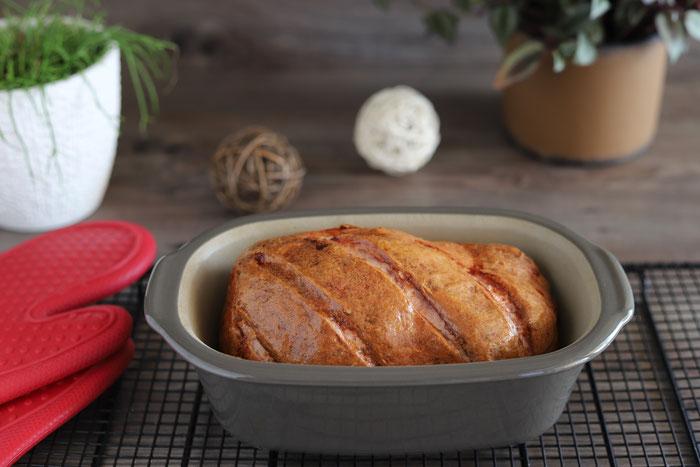 Leberkäse oder Fleischkäse im Ofenmeister oder Zaubermeister aus dem Pampered Chef Onlineshop